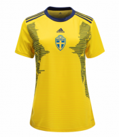 Women Sweden 2019/20 Home Soccer Jersey Shirt
