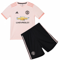 Kids Manchester United 18/19 Away Soccer Kits (Shirt+Shorts)