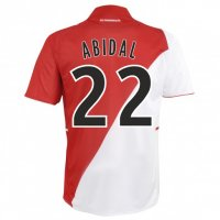 13-14 AS Monaco FC #22 Abidal Home Soccer Jersey Shirt