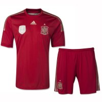 2014 Spain Home Red Jersey Kit(Shirt+Shorts)
