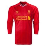 13-14 Liverpool Home Red Long Sleeve Soccer Jersey Shirt