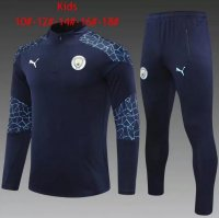 20/21 Kids/Youth Manchester City Training Sweat Top Tracksuit Navy and Pants
