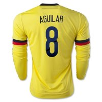 Colombia 2015 AGUILAR #8 LS Home Soccer Jersey
