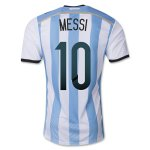 2014 Argentina #10 Messi Home Soccer Jersey Shirt