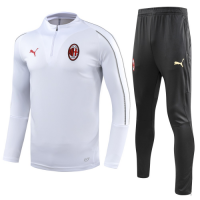 AC Milan 18/19 Training Sweat Top Tracksuit White With Pants
