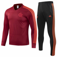 Flamengo 18/19 Training Sweat Top Tracksuit Red and Pants