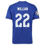 Chelsea 2015-16 UCL WILLIAN #22 Home Soccer Jersey
