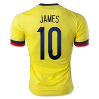 2015 Colombia JAMES #10 Home Soccer Jersey