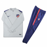 Kids Atletico Madrid 18/19 Training Sweat Top Tracksuit Grey With Pants