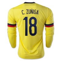 Colombia 2015 C. ZUNIGA #18 LS Home Soccer Jersey