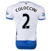 Newcastle United 2015-16 COLOCCINI #2 Home Soccer Jersey