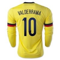 Colombia 2015 VALDERRAMA #10 LS Home Soccer Jersey