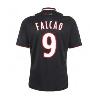 13-14 AS Monaco FC #9 Falcao Away Black Jersey Shirt