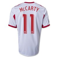13-14 Red Bulls #11 MCCARTY Home White Soccer Jersey Shirt