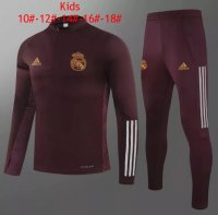 20/21 Kids Real Madrid Tracksuit Red Training Sweat Top and Pants
