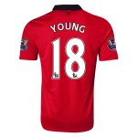 13-14 Manchester United #18 YOUNG Home Jersey Shirt