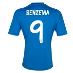 13-14 Real Madrid #9 Benzema Away Blue Soccer Jersey Shirt