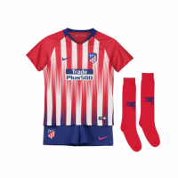 Kids Atletico Madrid 18/19 Home Soccer Sets (Shirt+Shorts+Socks)