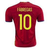 Spain 2016 FABREGAS #10 Home Soccer Jersey