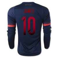 Colombia 2015 JAMES #10 LS Away Soccer Jersey