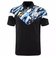 Manchester City 20/21 Polo Jersey Black Blue