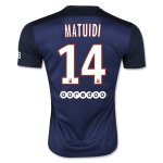 Paris Saint-Germain(PSG) 2015-16 MATUIDI #14 Home Soccer Jersey