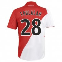 13-14 AS Monaco FC #28 Toulalan Home Soccer Jersey Shirt