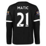 Chelsea 2015-16 MATIC #21 LS Third Soccer Jersey
