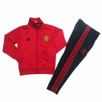 Kids Manchester United 18/19 Jacket Tracksuit Red With Pants