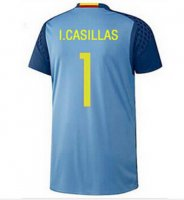 Spain Euro 2016 Home Goalkeeper IKER CASILLAS #1 Jersey