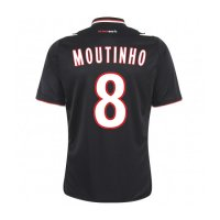13-14 AS Monaco FC #8 Moutinho Away Black Jersey Shirt