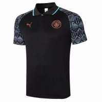 Manchester City 20/21 Polo Jersey Shirt Black