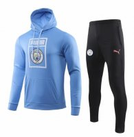 Manchester City 19/20 Tracksuit Hoody Top Blue and Pants