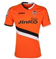 13-14 Valencia Away Orange Jersey Shirt