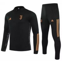 Juventus 20/21 Tracksuit Black Training Sweat Top and Pants