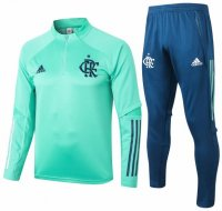Flamengo 20/21 Tracksuits Green Training Sweat Shirt and Pants