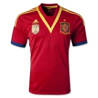 2013 Spain Red Home Replica Soccer Jersey Shirt