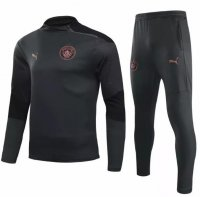 Manchester City 20/21 Tracksuit Black Training Top and Pants