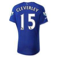 Everton 2015-16 CLEVERLEY #15 Home Soccer Jersey