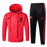 Kids Manchester United 18/19 Hoodie Tracksuit Red With Pants