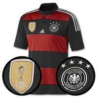 Four Stars 2014 Germany Champion Away Soccer Jersey
