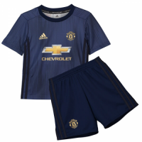 Kids Manchester United 18/19 3rd Away Soccer Kits (Shirt+Shorts)