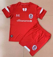 19/20 Kids Deportivo Toluca Home Soccer Kit (Shirt+Shorts)