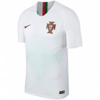 Portugal 2018 World Cup Away White Soccer Jersey Shirt