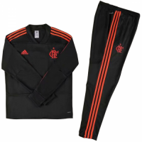 Kids Flamengo 18/19 Training Sweat Top Tracksuit Black and Pants