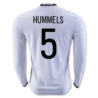 Germany 2016 HUMMELS #5 LS Home Soccer Jersey