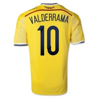 2014 Colombia #10 VALDERRAMA Home Yellow Jersey Shirt
