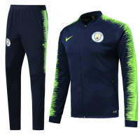 Manchester City 18/19 Jacket Tracksuits Blue Green With Pants