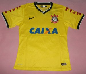 14-15 SC Corinthians Away Yellow Jersey Shirt