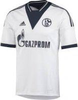 13-14 Schalke 04 Away White Jersey Shirt